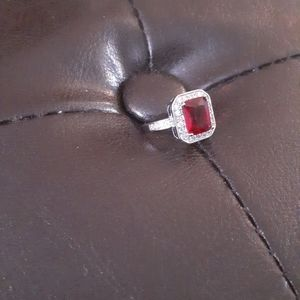 Jewelry - Sterling Silver Red Ruby Ring